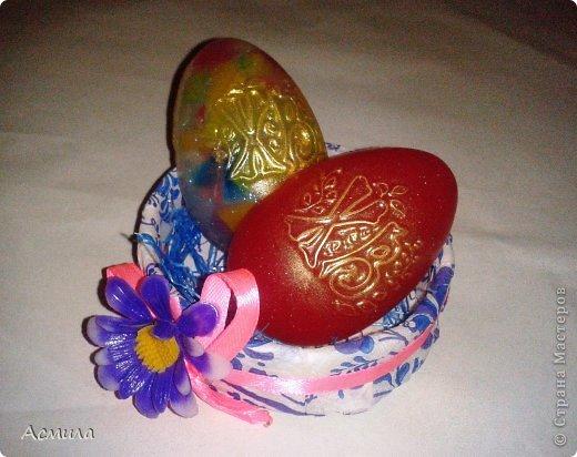 Всем доброе время суток и поздравления с наступающим праздником!!! Немного помыловарила для подарочков. Вот такие пестрые, весенние яйца получились. фото 4
