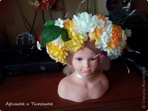 """Нужно было сделать венок на конкурс """"Мисс весна 2014"""" Вот что получилось. фото 1"""