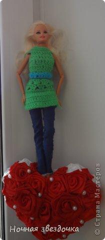 """Всем привет!!!!Я решила поучаствовать в замечательном конкурсе """"История моды"""". Мой костюм состоит из: 1.Вязаная крючком туника. 2.Джинсы.  фото 9"""