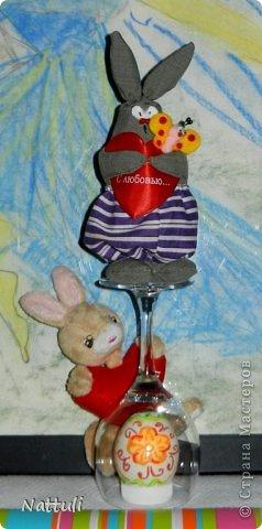 Милые мастерицы!!! Мы поздравляем вас с Пасхой!!!( Спасибо Корнеевой Ольге (Olich ) за чудесный МК с пасхальными кролями) Некоторые мои девочки успели сшить к празднику. Сфотографировать успела только одного (зарядка не вовремя закончилась )  фото 1