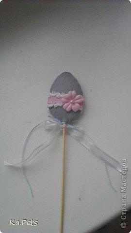 Декор для Пасхи. Украшение можно использовать в качестве декорации для цветочного горшка, можно поставить прямо в кулич или пасху. фото 4