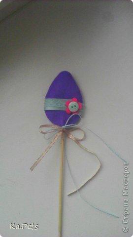 Декор для Пасхи. Украшение можно использовать в качестве декорации для цветочного горшка, можно поставить прямо в кулич или пасху. фото 2