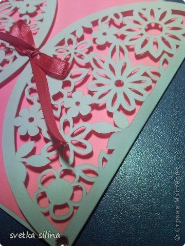 Это следующий этап моего нового увлечения - вырезание) В этот раз открытка-конверт.. фото 3