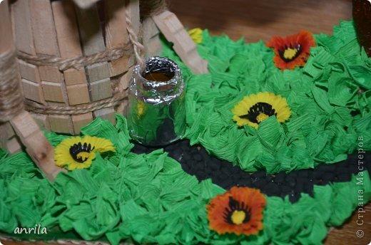 """В д/сад попросили сделать подделку для конкурса """"Огород на подоконнике"""". Решила смастерить колодец. Поискала в стране мастеров, и вот.... что получилось у меня.... фото 2"""
