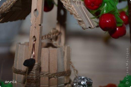 """В д/сад попросили сделать подделку для конкурса """"Огород на подоконнике"""". Решила смастерить колодец. Поискала в стране мастеров, и вот.... что получилось у меня.... фото 4"""