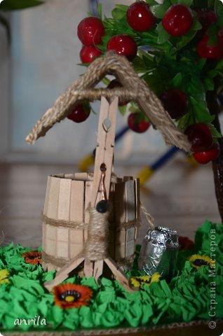 """В д/сад попросили сделать подделку для конкурса """"Огород на подоконнике"""". Решила смастерить колодец. Поискала в стране мастеров, и вот.... что получилось у меня.... фото 5"""