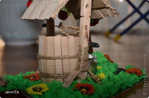 """В д/сад попросили сделать подделку для конкурса """"Огород на подоконнике"""". Решила смастерить колодец. Поискала в стране мастеров, и вот.... что получилось у меня.... фото 6"""