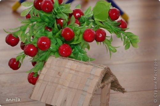 """В д/сад попросили сделать подделку для конкурса """"Огород на подоконнике"""". Решила смастерить колодец. Поискала в стране мастеров, и вот.... что получилось у меня.... фото 9"""
