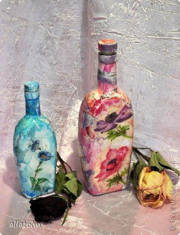 Всем доброго дня!  Показываю работы, сделанные еще в прошлом году.  Бутылка «Воронцовский замок» - так назывался напиток.  фото 7