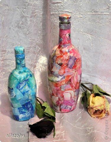 Всем доброго дня!  Показываю работы, сделанные еще в прошлом году.  Бутылка «Воронцовский замок» - так назывался напиток.  фото 8