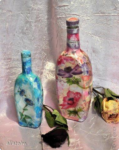 Всем доброго дня!  Показываю работы, сделанные еще в прошлом году.  Бутылка «Воронцовский замок» - так назывался напиток.  фото 9