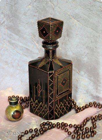Всем доброго дня!  Показываю работы, сделанные еще в прошлом году.  Бутылка «Воронцовский замок» - так назывался напиток.  фото 5