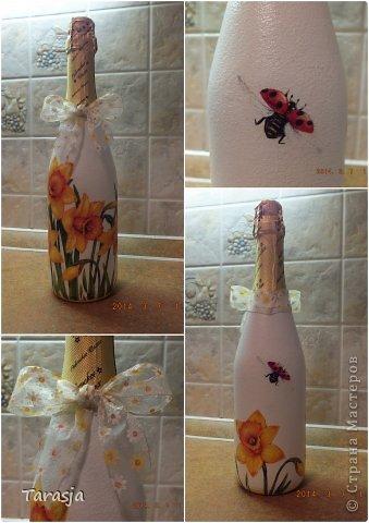 Моя первая бутылочка в подарок на Новый год. Подрисовки на ней помогал делать малыш, который активно пинал бутылку из животика, стоило мне ее туда прислонить)))) фото 8