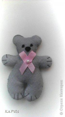 Давно хотела сделать своих медвежат, после того, как насмотрплась на них в интернете:-)  В следующий раз планирую сделать медвежат побольше и из хлопка. фото 4