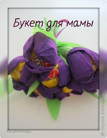 Здравствуйте, дорогие жители Страны Мастеров! Сегодня (21 апреля) наша мама празднует своё День Рождение! И, чтобы обрадовать её чем - то особенным , мы решили сделать ей вот такой вот букет! фото 1