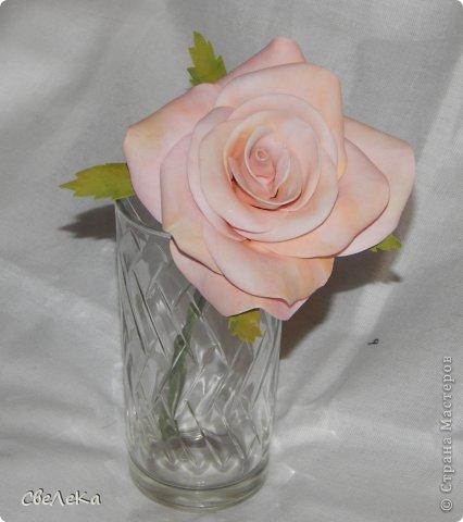 Приветствую всех, кто заглянул на мою страничку. Представляю свой дебют работы с фоамираном и создания розы. Впечатление от этого материала восхитительные. Хочется делать и делать новые цветочки.... фото 1