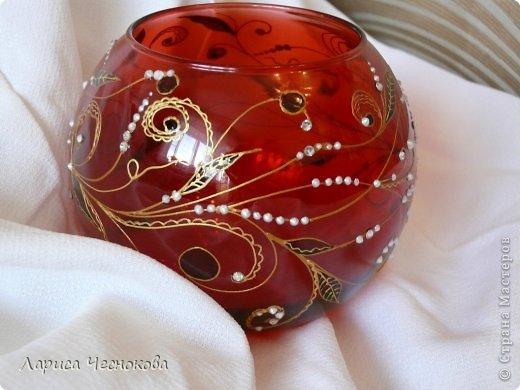 getimage_10_0 Вазы из стеклянных бутылок: декор, роспись и обрезка