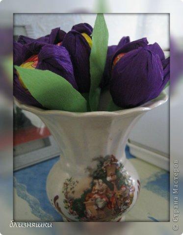 Здравствуйте, дорогие жители Страны Мастеров! Сегодня (21 апреля) наша мама празднует своё День Рождение! И, чтобы обрадовать её чем - то особенным , мы решили сделать ей вот такой вот букет! фото 4