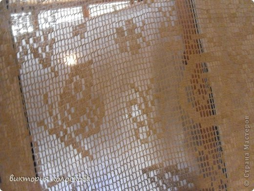 Интерьер Вязание крючком тюль