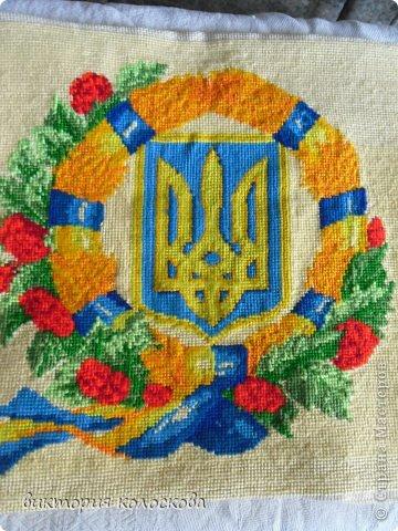 вышивка -герб Украины