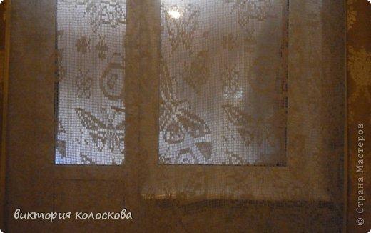 Интерьер Вязание крючком тюль из льняной нити Пряжа фото 3.