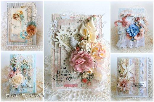 Сегодня хочу показать свои открытки, которые сделала в рамках СП блога Мемуарис и Кати Погодиной Скраповедение по стилю шебби шик.