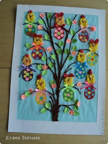 Сегодня я покажу несколько работ, которые мы делали с детьми к празднику Пасхи. фото 11