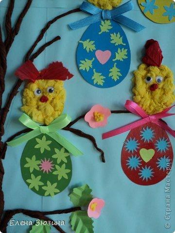 Сегодня я покажу несколько работ, которые мы делали с детьми к празднику Пасхи. фото 12