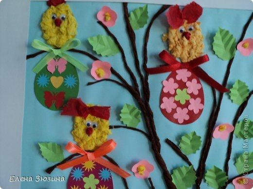Сегодня я покажу несколько работ, которые мы делали с детьми к празднику Пасхи. фото 14