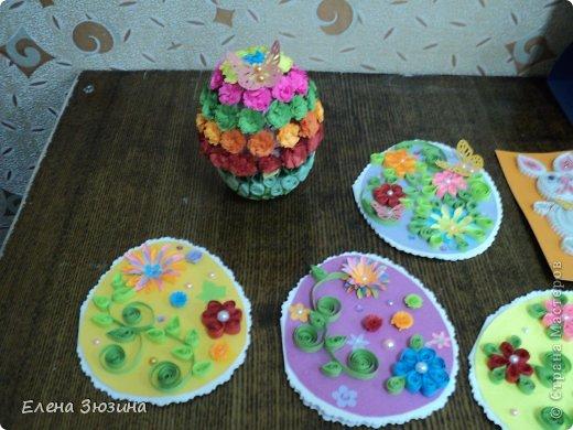 Сегодня я покажу несколько работ, которые мы делали с детьми к празднику Пасхи. фото 10