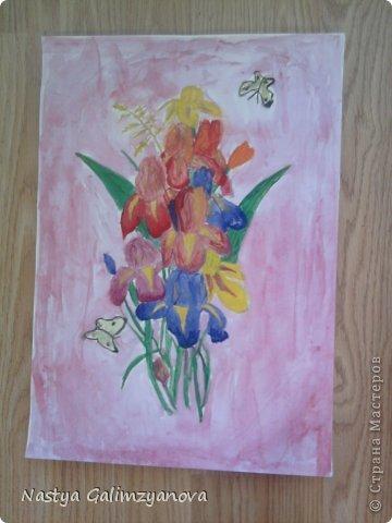 """Эту картину я написала пастелью.Её название:""""Отражение заката на водной глади реки"""" фото 2"""