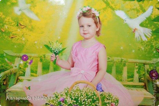 дочка увидела этот ободочек и сказала, что в нем она будет фея цветов....ну фея, так фея)))    фото 4