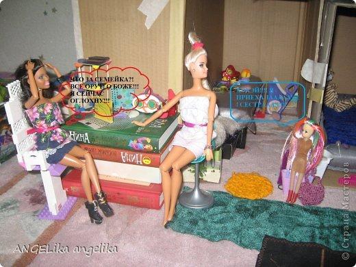 """привет!!! сегодня мы узнаем,что может случиться , если к вам приедет сестра... от лица кукол. Ева(Е), Джесика(Д), Мартин(М). Е: да где же эта бумажка с номером? Д(думает):"""" да какая бумажка с номером! сейчас только 6 утра! орёт на весь дом!!!  фото 7"""