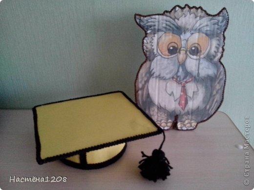 Добрый день! в садике проходит конкурс на украшение тематических уголков, задали сделать сову мудрую, вот что получилось... фото 5