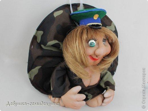 """Кукла-попик """"Пограничница"""" приносит удачу всем военнослужащим пограничных войск. фото 2"""