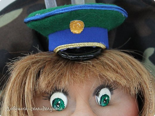 """Кукла-попик """"Пограничница"""" приносит удачу всем военнослужащим пограничных войск. фото 4"""