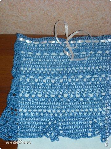 Связалась юбочка для маленькой девочки (на 2 годика). Сверху вместо резиночки сделала ленточку. фото 3