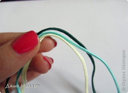 Для сережек нам понадобится: Сутаж. Я взяла трех цветов. нежно- бежевый, небесно-голубой и темно- зеленый.  На фото по 2метра, но метра вам хватит на пару сережек это точно. фото 6