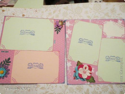 Альбом для фото 15*15 в розовых тонах. Имеются потайные кармашки, места для заметок. Альбом рассчитан под фото 9*13, 6 листов фото 6