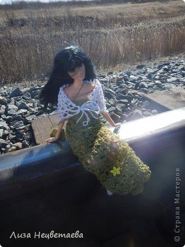 Всем привет!!! Сегодня мы с Алёнчиком06 ходили погулять к железной дороге. И конечно же прихватили с собой кукол!!! фото 2