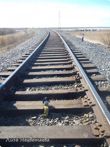 Всем привет!!! Сегодня мы с Алёнчиком06 ходили погулять к железной дороге. И конечно же прихватили с собой кукол!!! фото 4