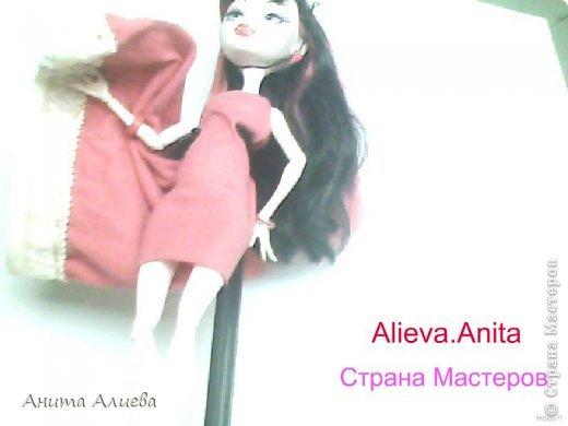 Привет! В моём первом блоге хочу показать то что шью на своих кукол. Первое это платье с маленькой майкой для Дракулауры. фото 11