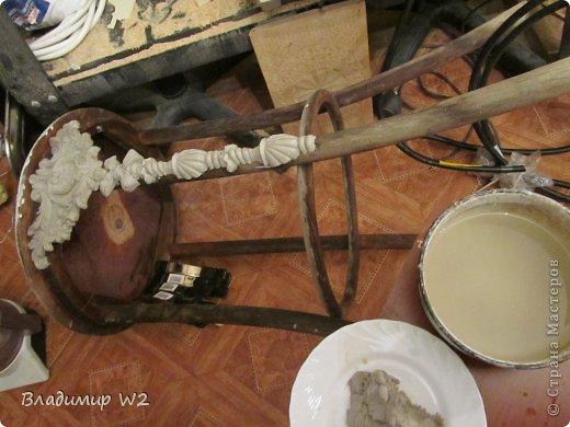 """Продолжение МК:    """"Водолазный шлем""""           https://stranamasterov.ru/node/747781           Под подставку для водолазного шлема у меня есть древняя конструкция (даже не знаю, как правильно называется) годов 50-х прошлого века, а может и ранее. Подобрал соответственно на свалке. Долго стояла в сторонке – дожидалась своего звёздного часа.            фото 4"""