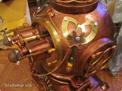 """Продолжение МК:    """"Водолазный шлем""""           https://stranamasterov.ru/node/747781           Под подставку для водолазного шлема у меня есть древняя конструкция (даже не знаю, как правильно называется) годов 50-х прошлого века, а может и ранее. Подобрал соответственно на свалке. Долго стояла в сторонке – дожидалась своего звёздного часа.            фото 16"""