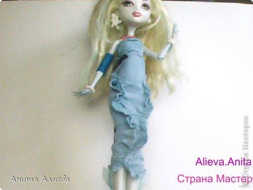 Привет! В моём первом блоге хочу показать то что шью на своих кукол. Первое это платье с маленькой майкой для Дракулауры. фото 3