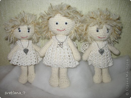 Ангелочки вязала по мастер-класу http://www.liveinternet.ru/users/5035724/post314610169/   Ангелочек-девочка. фото 2