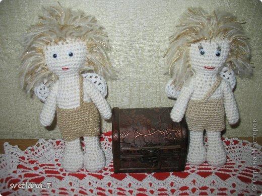 Ангелочки вязала по мастер-класу http://www.liveinternet.ru/users/5035724/post314610169/   Ангелочек-девочка. фото 3