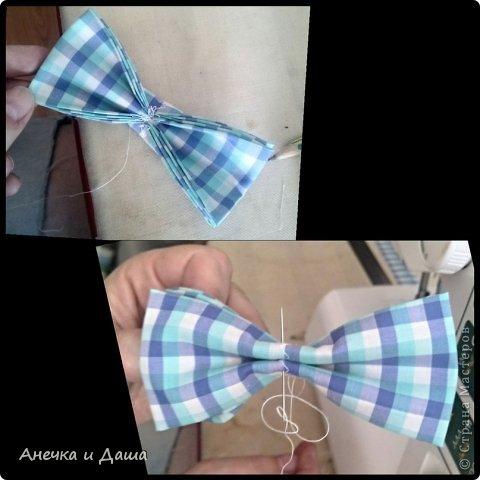 Мастер-класс Шитьё Шьём галстук-бабочку Нитки Ткань фото 11
