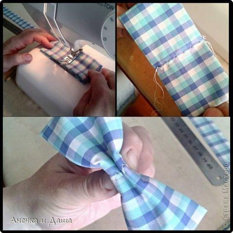 Мастер-класс Шитьё Шьём галстук-бабочку Нитки Ткань фото 10