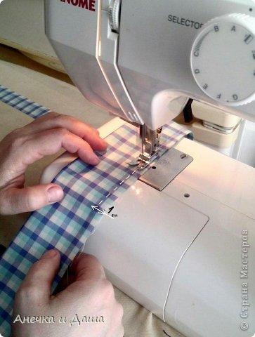 Мастер-класс Шитьё Шьём галстук-бабочку Нитки Ткань фото 4
